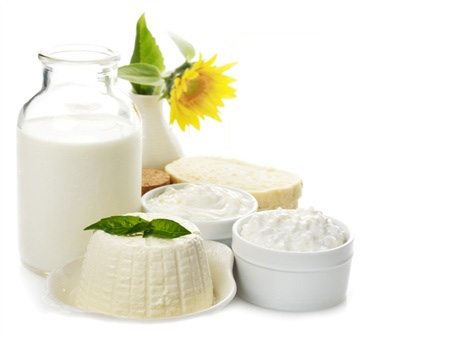 Milk products with bread